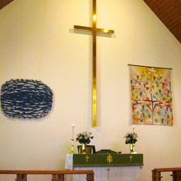 Element 'Water' on Display at Grace lutheran Scarsdale by Art beyond borders