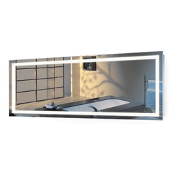 "Large 72""X30"" LED Mirror Lighted Vanity Mirror w Dimmer & Defog by krugg reflections USA"