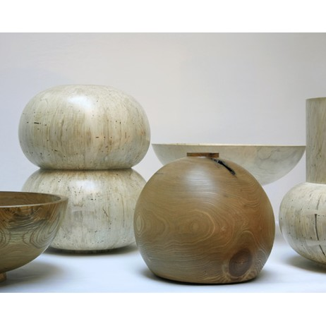 turned solid wood vessels by KARKULA