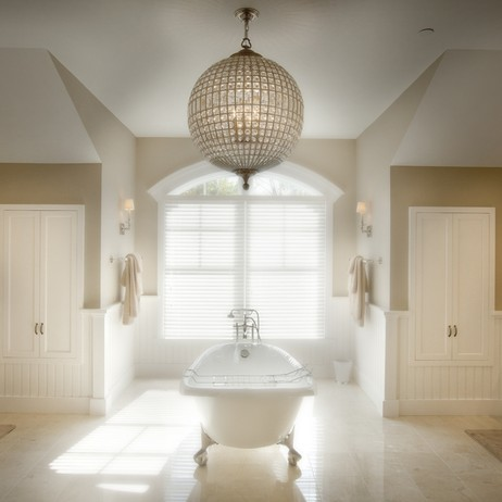 Custom Vanities for a Master Bath in Bethesda, Maryland by Kountry Kraft, Inc.