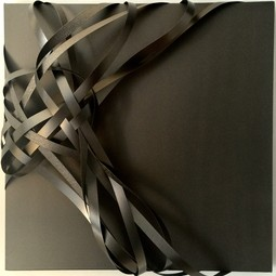 Black Veneer Wall Sculpture by Joseph Dermody