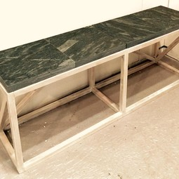 Recycled Stone Bench by Joseph Dermody
