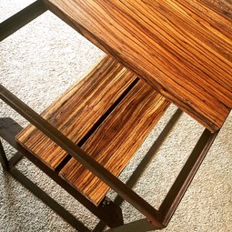 Zebrawood + Reclaimed Metal by Joseph Dermody