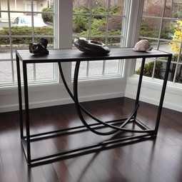 "Custom ""studio"" console table by Mac Metalworks Inc."