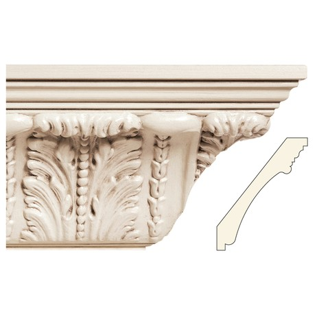 X Large acanthus leaf cornic moulding by White River Hardwoods