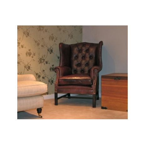 Portland Chesterfield Chair - Wing  by The Original Sofa Co.