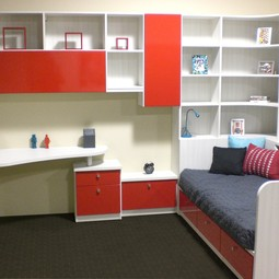 Colorful Childrens Storage  by California Closets