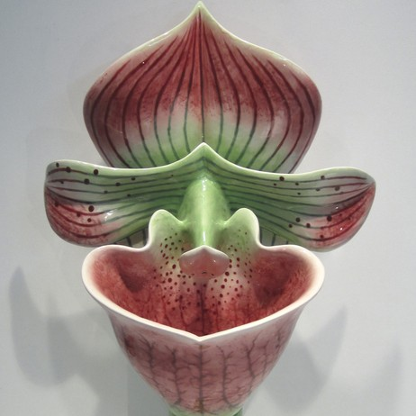 Pink & Green Orchid Urinal by Clarkmade