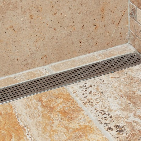 LUXE Square Pattern Linear Drain  by LUXE Linear Drains