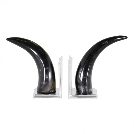 Horn Bookends by Jung Lee NY