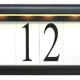 Estate Series Black by EVERLITE Illuminated House Numbers