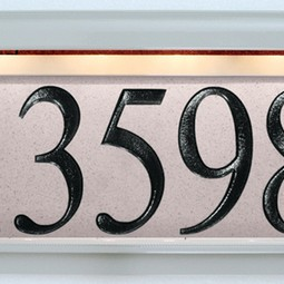 Stone Series Pepper Cream by EVERLITE Illuminated House Numbers