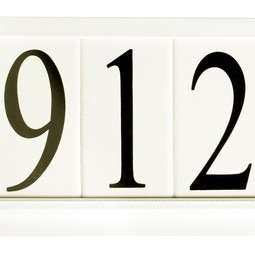Estate Special Series White by EVERLITE Illuminated House Numbers