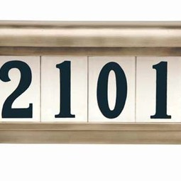 Heritage Series Colonial Pewter by EVERLITE Illuminated House Numbers