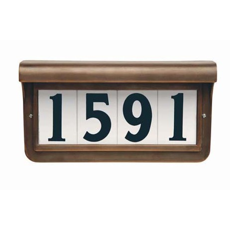 Heritage Series Grecian Bronze by EVERLITE Illuminated House Numbers