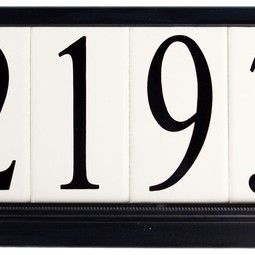 Estate Special Series Black by EVERLITE Illuminated House Numbers