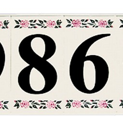 Country Series Tile by EVERLITE Illuminated House Numbers