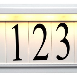 Estate Series White by EVERLITE Illuminated House Numbers