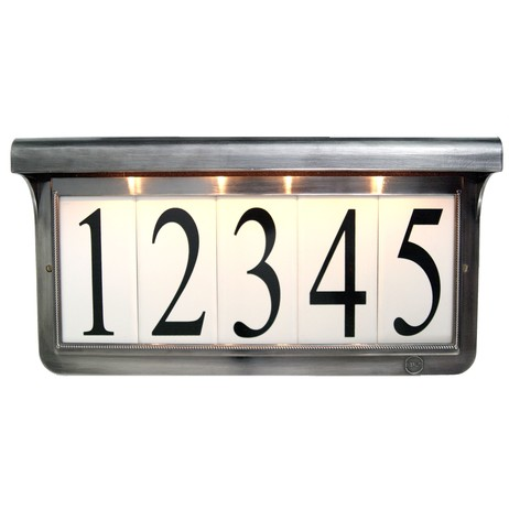 Estate Series Colonial Pewter by EVERLITE Illuminated House Numbers