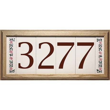 Contemporary Brown Series by EVERLITE Illuminated House Numbers