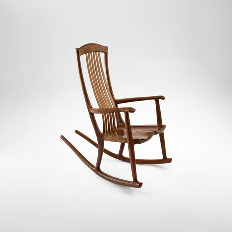 south yuba floating back rocking chair by Erickson Woodworking