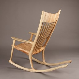 Sculpted Rocking Chair by Laron Algren Woodworking