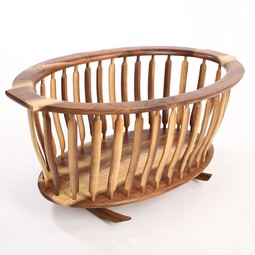 Rocking Bassinet by Laron Algren Woodworking