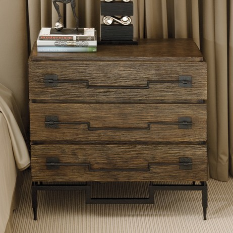 3 Drawer Wide Chest-Dark Brushed  by Global Views