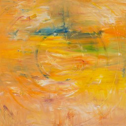 yellow rotation oil on canvas by Irina Gorbman