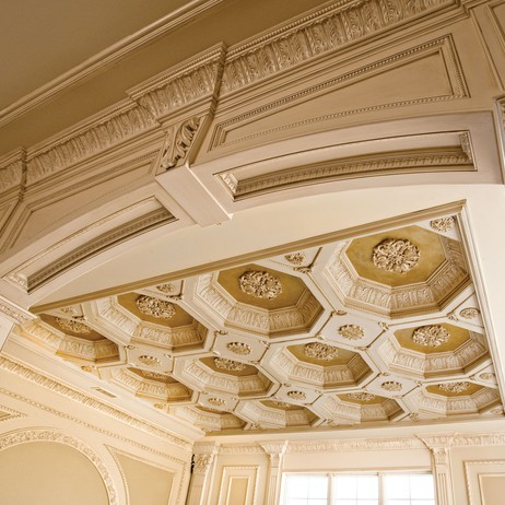 Coffered BeeHive Ceiling by D'Alessio Inspired Architectural Designs