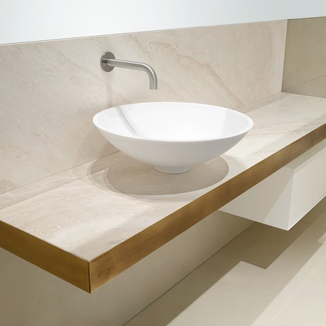 TRAVERTINE VANITY COUNTER  by PSCBATH