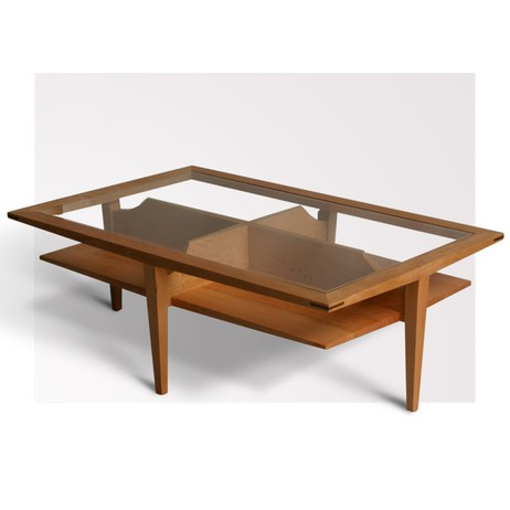 Suspended rectangular coffee table by City Joinery
