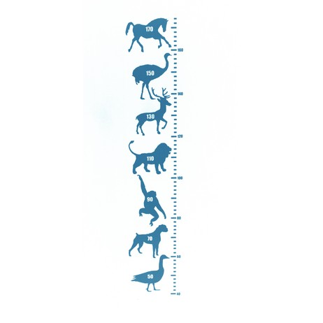 Animalask vinyl height chart by Westergaard Designs