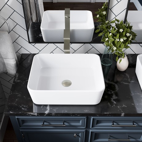 V140-White Porcelain Vessel Sink by MR Direct Sinks and Faucets