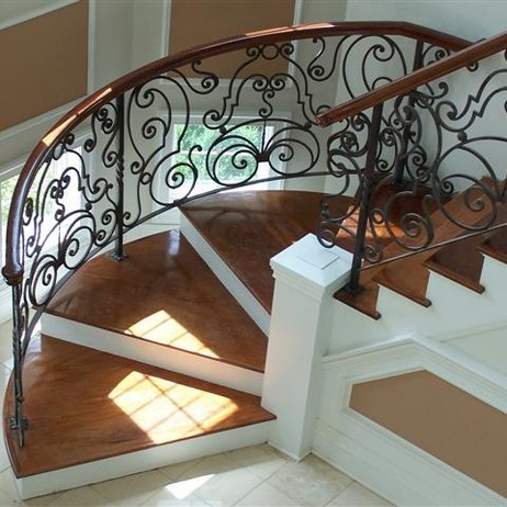Custom Hand Forged Railing by Exclusive Iron Works New York