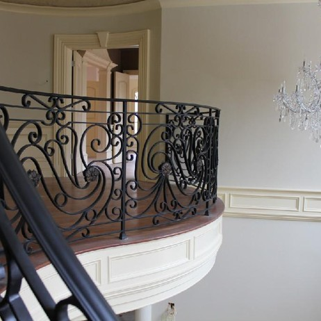 Interior Hand Forged RAILING by Exclusive Iron Works New York