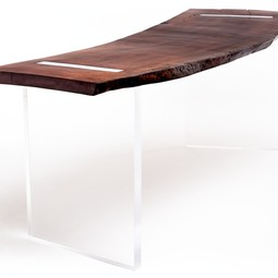 Reclaimed Wood Floating Desk by Rotsen Furniture