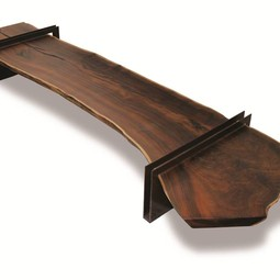 Live Edge Walnut Slab Coffee Table  by Rotsen Furniture