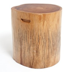 Natural Wood Stool - Round by Rotsen Furniture