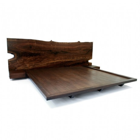 Claro Walnut Bed 1 by Hudson Furniture