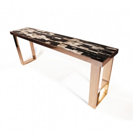 Petrified Wood Console by Hudson Furniture
