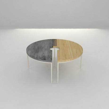 Black Table Studio Coffee Table by Fiercely Curious