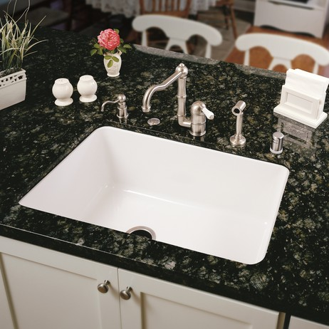 Allia Fireclay Single Bowl Undermount Kitchen Sink by ROHL