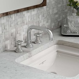 Campo U Spout Widespread Lavatory Faucet By Rohl Bathroom Faucets Modenus Catalog