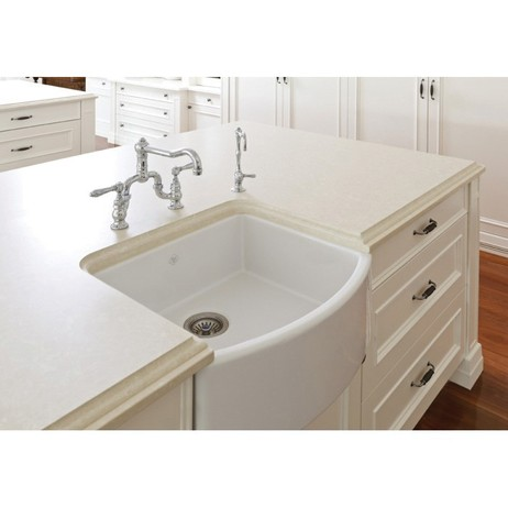 "ROHL Shaws Waterside 23 1/2"" Fireclay Kitchen Sink by ROHL LLC"