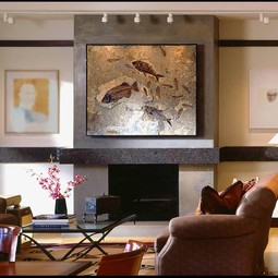 Fossil Wall Mural by Green River Stone Company