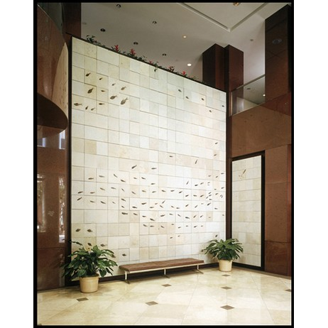 Fossil Tile Wall by Green River Stone Company