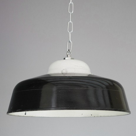 Bakelite & porcelain factory lights by SkinFlint
