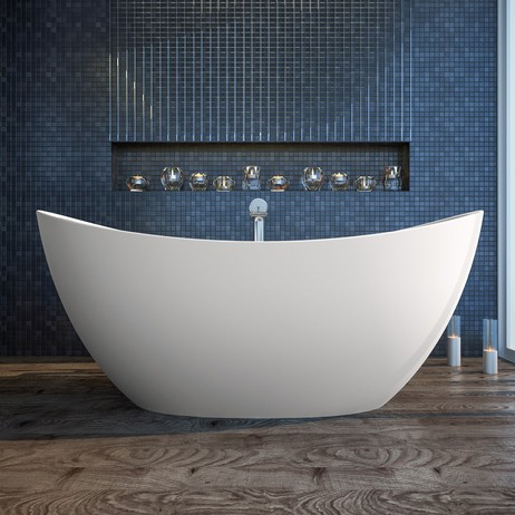 Purescape 171 freestanding solid surface bathtub by Aquatica