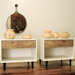 Spalted Maple Nightstands by Palo Samko